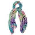 Animal print cashmere scarf
