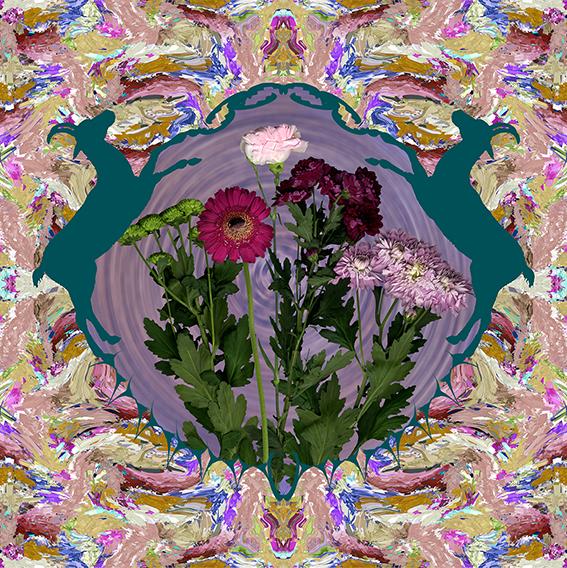 Large Cashmere Modal Floral Scarf