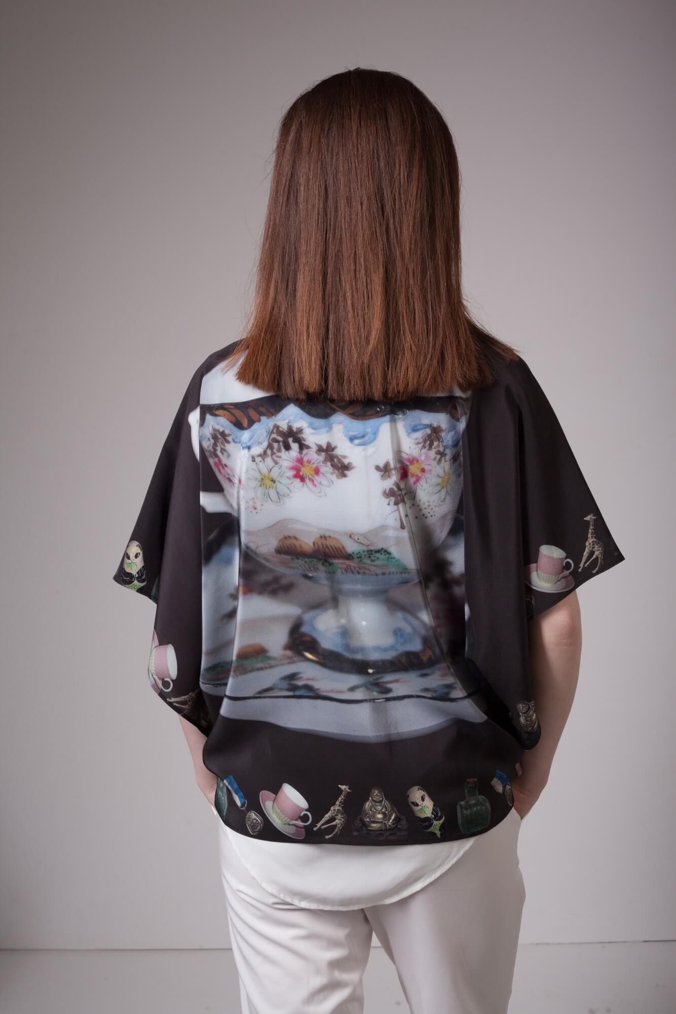 Victorian Teacup Silk Kimono