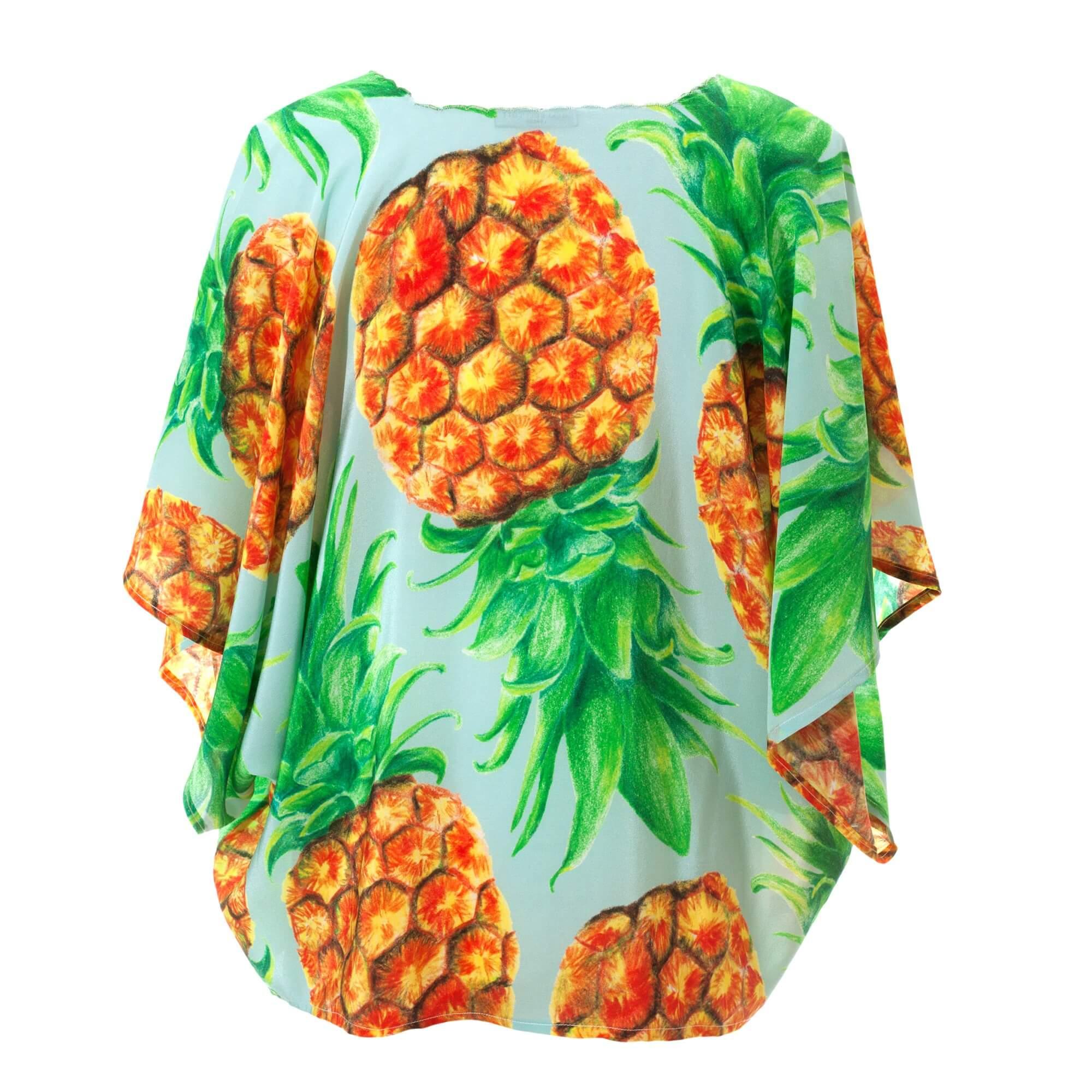 Pineapple Silk Kimono - Back