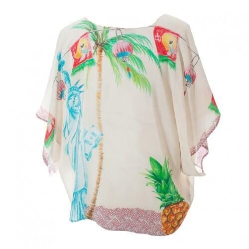 Pink Liberty Silk Kimono - Back