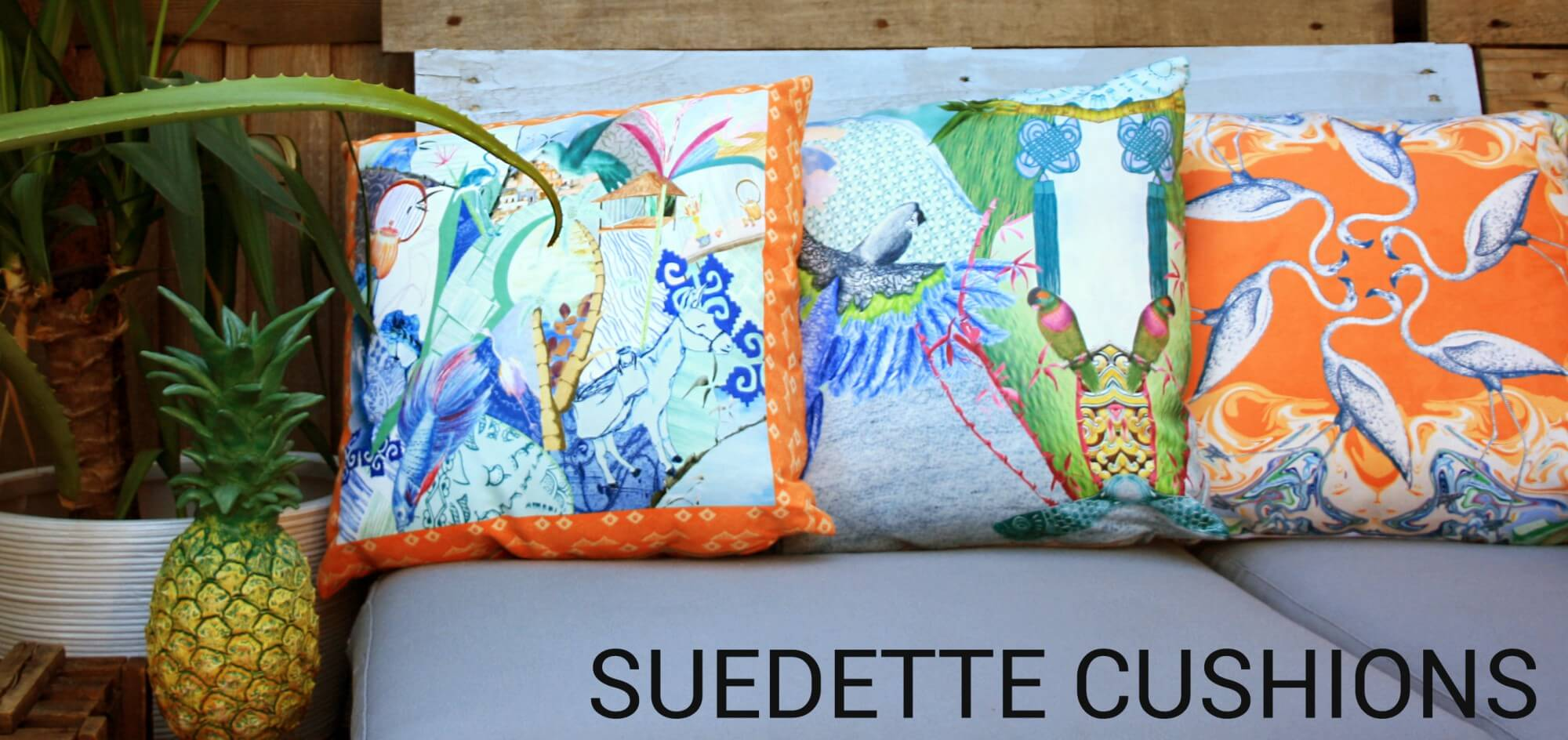 Suedette Cushions
