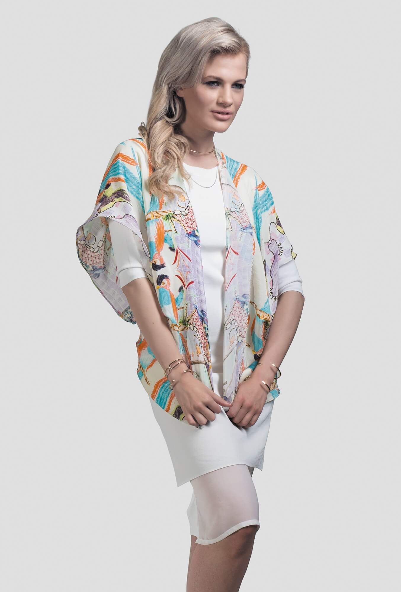 Orange Silk Kimono Parrot   Jenny Collicott