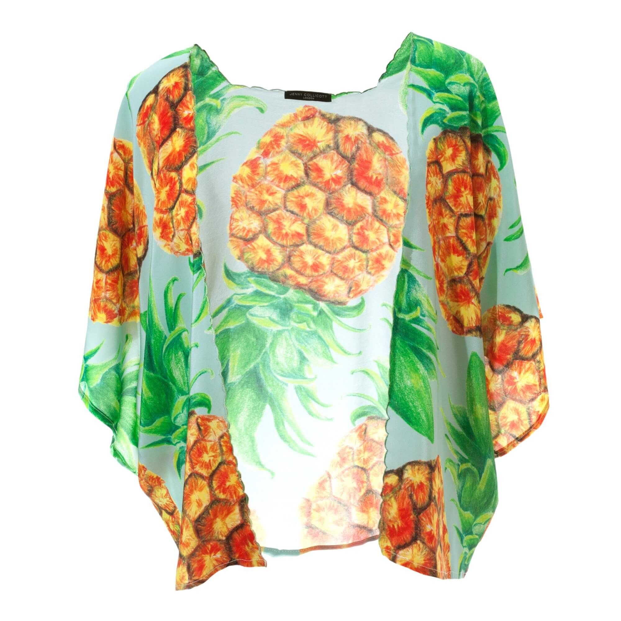 Pineapple Silk Kimono - Front